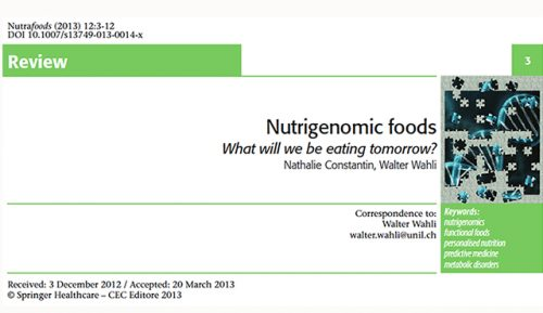 Nutrigenomic foods: What will we be eating tomorrow?